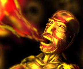 Detail vom Feuerspucker